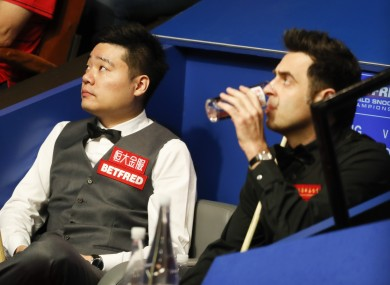 Ding and O'Sullivan: all square at 4-4.
