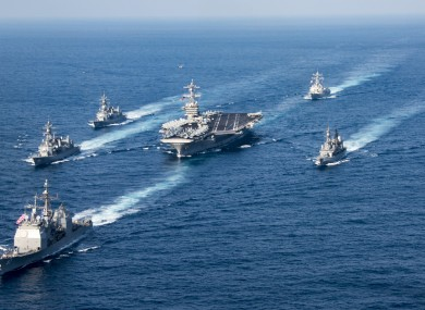 The Carl Vinson Strike Group.