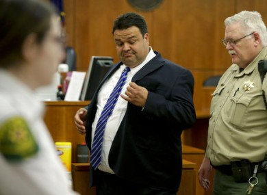 Keith Vallejo leaves the courtroom, in Provo, Utah