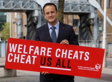 Minister for Social Protection Leo Varadkar launching a campaign against welfare fraud.