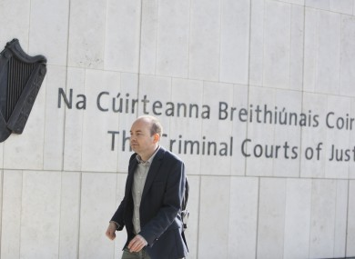 Paul Murphy arriving to the Central Criminal Courts of Justice in Dublin.