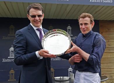 Trainer Aidan O'Brien and jockey Ryan Moore.
