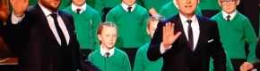 A Co Down primary school has been accused of miming after a 'technical glitch' on Britain's Got Talent