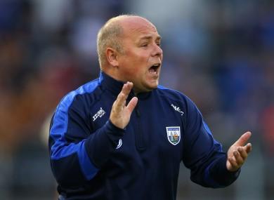 Waterford hurling manager Derek McGrath.