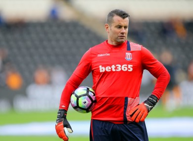 Shay Given has been released by Stoke.