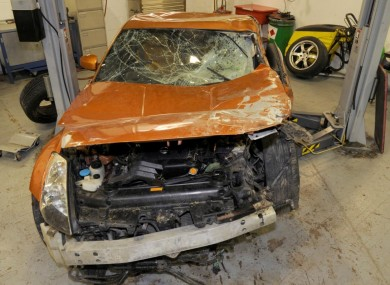 The car involved in the incident was destroyed.