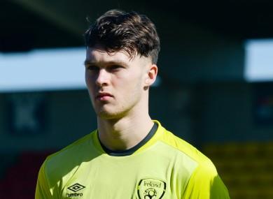 Kieran O'Hara pictured prior to Ireland's U21 victory over Kosovo in March.