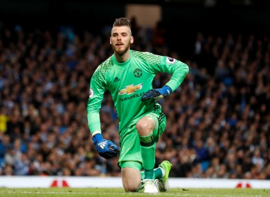 David de Gea has been arguably Man United's best player this season.