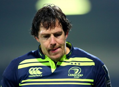 Leinster lock Mike McCarthy.