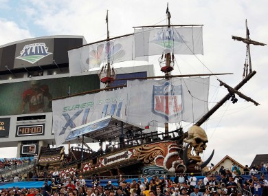 Raymond James Stadium is famous for its pirate ship.
