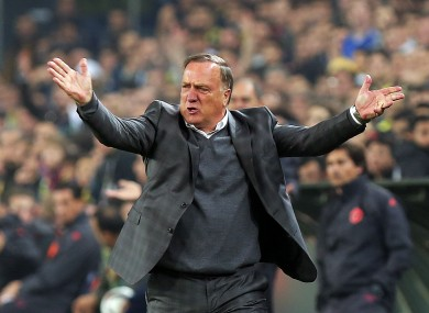 Advocaat most recently was manager of Fenerbahce.