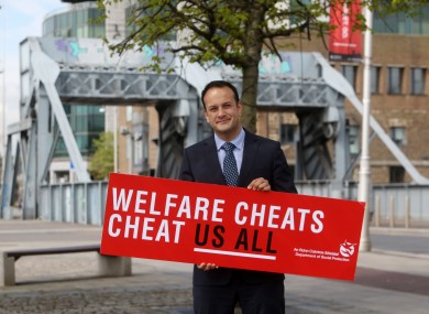Minister for Social Protection Leo Varadkar launching the campaign last month