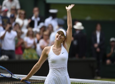The last time Sharapova competed at Wimbledon was 2015.