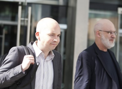 Solidarity Paul Murphy TD (left) leaving the Central Criminal Courts of Justice.