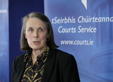 Chief Justice Susan Denham pictured last year