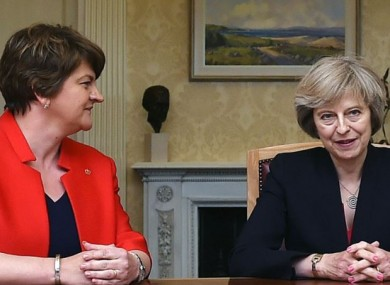 Arlene Foster and Theresa May pictured in 2016