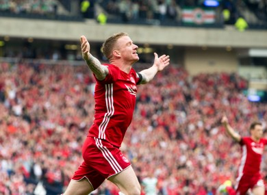 Jonny Hayes was nominated for the PFA Player of the Year in Scotland last season.