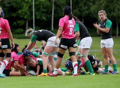 Ireland played a trial game at the UCD Bowl against Japan earlier this month.