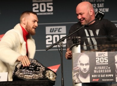 McGregor in his unicorn skin coat.