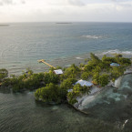 Director Francis Ford Coppola opened Coral Caye last year in Belize, surrounded by a rainbow of sea life. <span class=