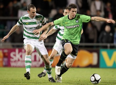 Rovers defender Dan Murray and Celtic's Daryl Murphy when the clubs met in 2011.