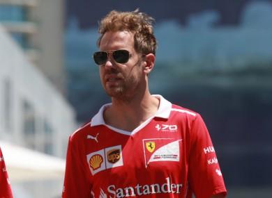Sebastian Vettel (file pic).