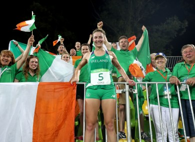 Ireland's Natalya Coyle celebrates her finish at the Rio Olympics.