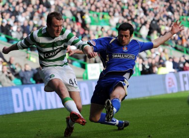 Clancy with Celtic's Aiden McGeady during his time at Kilmarnock.