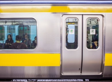 File photo of a train in Tokyo