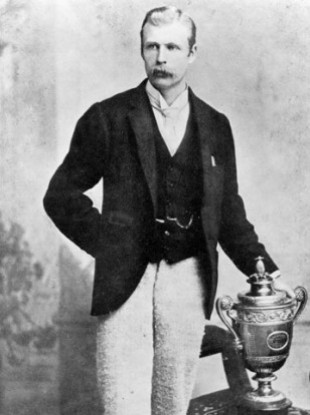 Willougby Hamilton after his Wimbledon success in 1890.