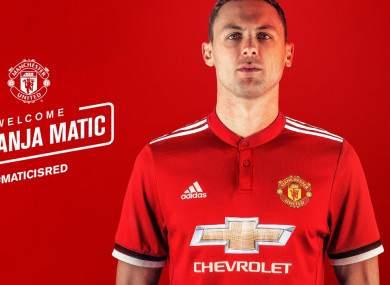 The club unveiled the player this afternoon.
