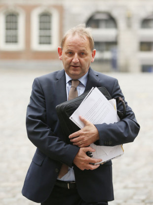 Garda Sergeant Maurice McCabe arriving at the Disclosures Tribunal in Dublin Castle today