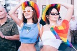 Kendall and Kylie Jenner went to London Pride with Bella Hadid and they all had a Nando's afterwards
