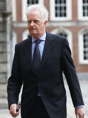 Justice Peter Charleton at Dublin Castle where the public inquiry is being held.