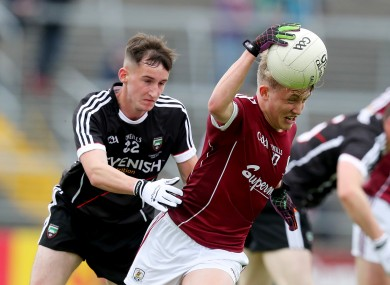 Galway's Conor Campbell and Sligo's Ben Tuohy.