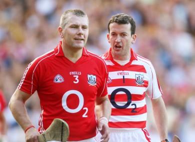Cork's Diarmuid O'Sullivan and Donal Óg Cusack.