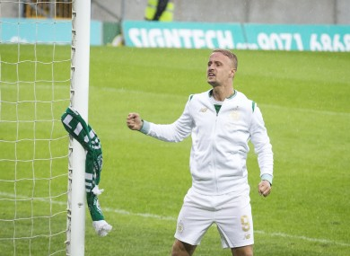 Griffiths and the scarf.