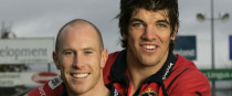 Peter Stringer and Donncha O'Callaghan in 2005.