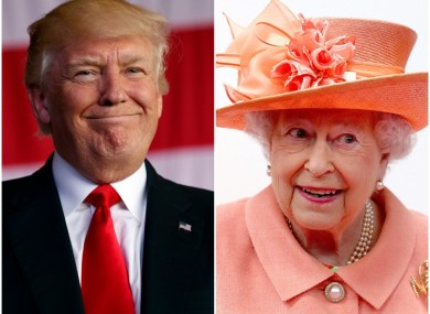 Trump has previou;ly expressed admiration for Britain's queen.