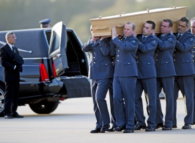 Remains of victims of the Mh17 flight are repatriated to the Netherlands.