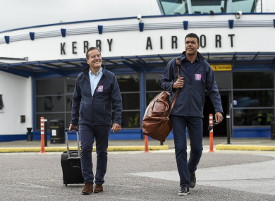 Kingdom come: Stelling and Kamara visited Kerry as part of their roadtrip.