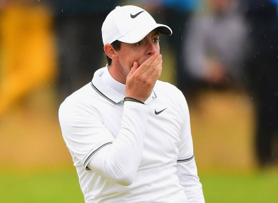 Four-time major champion Rory McIlroy