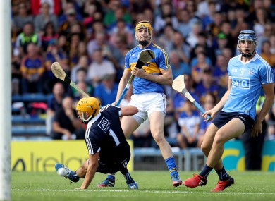 Seamus Callanan hits home his second goal for Tipperary.