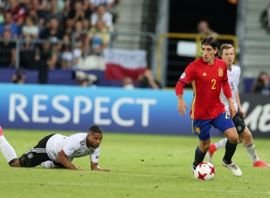 Bellerin: played 381 minutes for Spain at the U21 Euros.