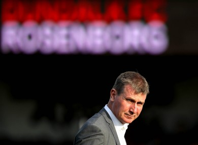 Stephen Kenny: focused on Rosenborg.