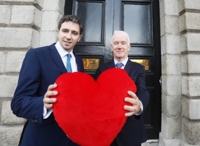 Health Simon Harris and Professor Jim Egan, Director of Organ Donation and Transplant Ireland outside the Organ Donation and Transplant Ireland in Dublin today.