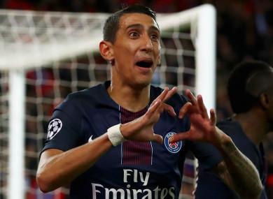 Paris Saint-Germain star Angel Di Maria.