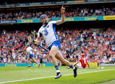 Austin Gleeson celebrates after scoring a goal against Cork on Sunday.