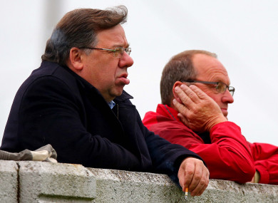 Cowen looks on at an Offaly club hurling match in 2015.