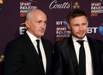 Barry McGuigan (left) and Carl Frampton are set to part ways, according to reports.